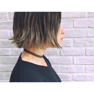 グラデーションカラー ストリート アッシュ ハイライト ヘアスタイルや髪型の写真・画像
