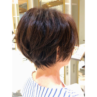 マッシュショート ハンサムショート ショートボブ ショートヘア ヘアスタイルや髪型の写真・画像