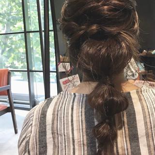 結婚式ヘアアレンジ 大人可愛い ヘアアレンジ 編みおろしヘア ヘアスタイルや髪型の写真・画像