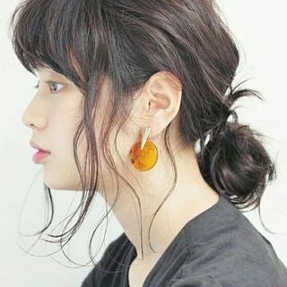外国人風 ヘアアレンジ ナチュラル 簡単ヘアアレンジ ヘアスタイルや髪型の写真・画像