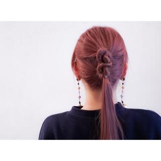 ショート ロング 大人かわいい 簡単ヘアアレンジ ヘアスタイルや髪型の写真・画像