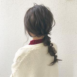 簡単ヘアアレンジ セミロング 大人かわいい ナチュラル ヘアスタイルや髪型の写真・画像