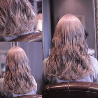 渋谷系 ウェーブ ストリート セミロング ヘアスタイルや髪型の写真・画像