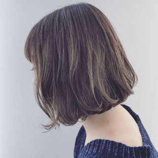 外国人風 ボブ 外国人風カラー ハイライト ヘアスタイルや髪型の写真・画像