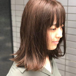大人かわいい 涼しげ 切りっぱなし ナチュラル ヘアスタイルや髪型の写真・画像