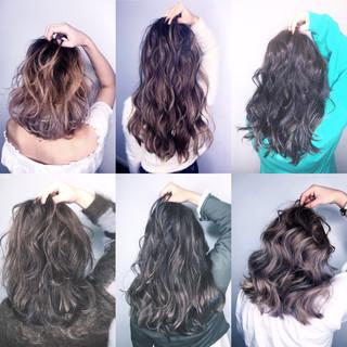 セミロング ハイライト 外国人風 アッシュ ヘアスタイルや髪型の写真・画像 ヘアスタイルや髪型の写真・画像