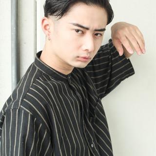 メンズ ベリーショート 黒髪 ナチュラル ヘアスタイルや髪型の写真・画像
