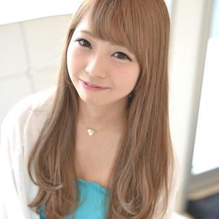 ハイライト 渋谷系 前髪あり ガーリー ヘアスタイルや髪型の写真・画像