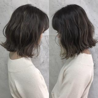 透明感 外国人風 ハイライト アッシュ ヘアスタイルや髪型の写真・画像