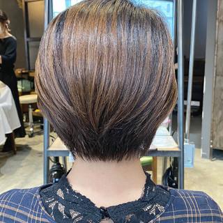 大人ショート ショート ナチュラル ハンサムショート ヘアスタイルや髪型の写真・画像 | Nakaji. / ensue