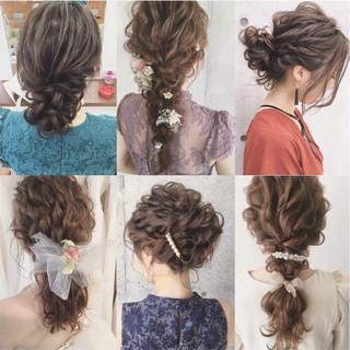 ナチュラル ヘアアレンジ 結婚式 ガーリー ヘアスタイルや髪型の写真・画像
