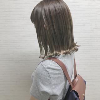 ハロウィン 外国人風カラー 外ハネ 切りっぱなし ヘアスタイルや髪型の写真・画像