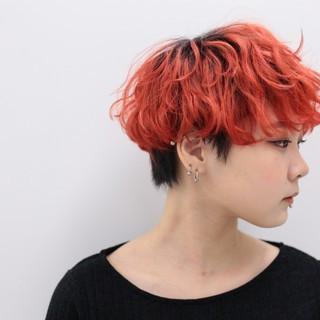 ハイトーン ダブルカラー ストリート ブリーチ ヘアスタイルや髪型の写真・画像