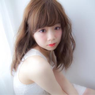 大人かわいい ミディアム ピュア おフェロ ヘアスタイルや髪型の写真・画像 ヘアスタイルや髪型の写真・画像