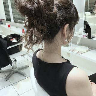 ハーフアップ ヘアアレンジ 編み込み 簡単ヘアアレンジ ヘアスタイルや髪型の写真・画像