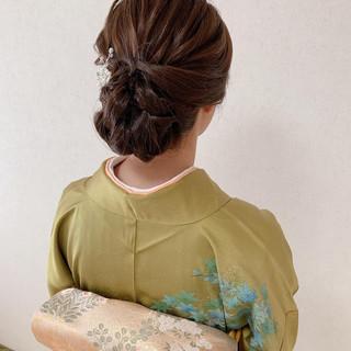 訪問着 結婚式 エレガント ヘアアレンジ ヘアスタイルや髪型の写真・画像 | Moriyama Mami / 福岡天神ヘアセット・着付け専門店【Three-keys】