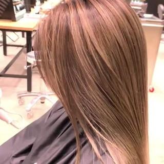 ロング グラデーション 外国人風 バレイヤージュ ヘアスタイルや髪型の写真・画像