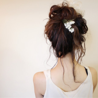 ヘアアレンジ デート ミルクティー セミロング ヘアスタイルや髪型の写真・画像 ヘアスタイルや髪型の写真・画像