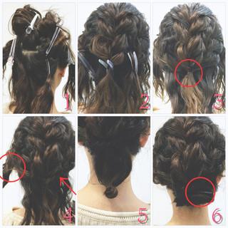 フィッシュボーン ヘアアレンジ ツイスト ショート ヘアスタイルや髪型の写真・画像 ヘアスタイルや髪型の写真・画像