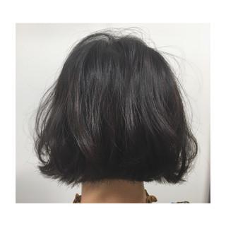 ウェーブ 黒髪 涼しげ 外ハネ ヘアスタイルや髪型の写真・画像