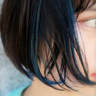 ストリート アッシュ ピュア 黒髪 ヘアスタイルや髪型の写真・画像