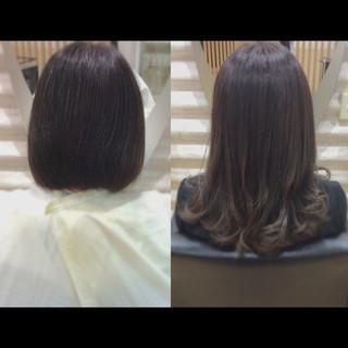 ナチュラル 髪質改善トリートメント 髪質改善 艶髪 ヘアスタイルや髪型の写真・画像