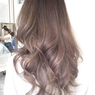ストリート ロング 外国人風カラー ハイライト ヘアスタイルや髪型の写真・画像