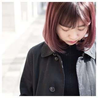 ラズベリーピンク ラベンダーピンク ベリーピンク ピンク ヘアスタイルや髪型の写真・画像