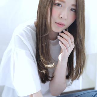 外国人風 ロング ナチュラル 外国人風カラー ヘアスタイルや髪型の写真・画像