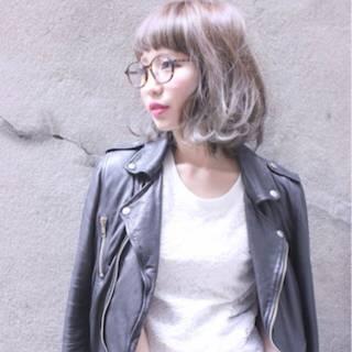 ガーリー ストリート ボブ ゆるふわ ヘアスタイルや髪型の写真・画像