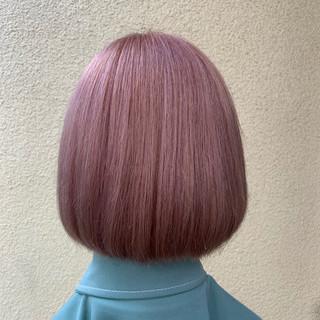 ブリーチカラー ハイトーン ブリーチ ボブ ヘアスタイルや髪型の写真・画像