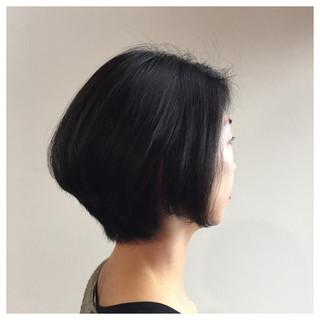 ボブ コンサバ 黒髪 グラデーションカラー ヘアスタイルや髪型の写真・画像