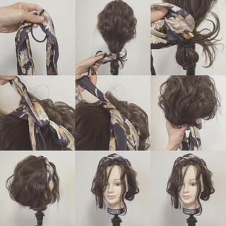 ヘアアクセ 波ウェーブ ショート ヘアアレンジ ヘアスタイルや髪型の写真・画像 ヘアスタイルや髪型の写真・画像