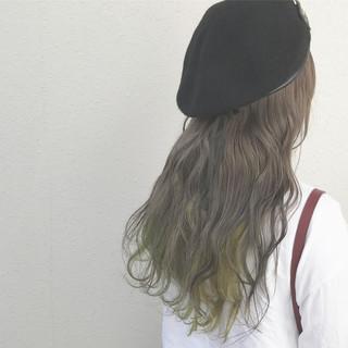 ロング カラーバター 外国人風カラー インナーカラー ヘアスタイルや髪型の写真・画像 ヘアスタイルや髪型の写真・画像