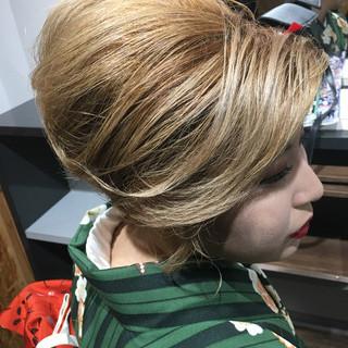 ヘアアレンジ エレガント 簡単ヘアアレンジ 成人式 ヘアスタイルや髪型の写真・画像