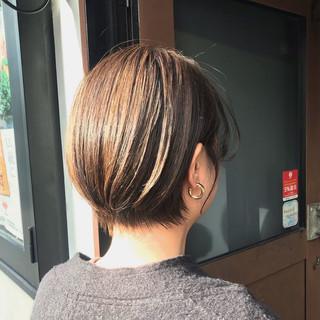 ハイライト ハンサムショート 3Dハイライト ナチュラル ヘアスタイルや髪型の写真・画像 | Nakaji. / ensue