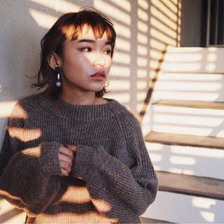 外国人風 冬 ボブ ショートボブ ヘアスタイルや髪型の写真・画像