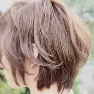 アッシュ ナチュラル トレンド ショートボブ ヘアスタイルや髪型の写真・画像 ヘアスタイルや髪型の写真・画像