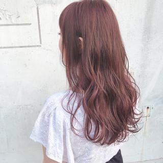 ゆるふわ かわいい ラベンダーアッシュ ロング ヘアスタイルや髪型の写真・画像