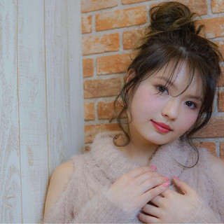 大人女子 セミロング ハイライト 簡単ヘアアレンジ ヘアスタイルや髪型の写真・画像