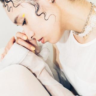 透明感 ナチュラル ハイライト ミディアム ヘアスタイルや髪型の写真・画像