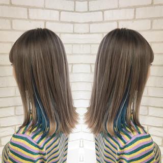 ミディアム イルミナカラー ブリーチ モード ヘアスタイルや髪型の写真・画像