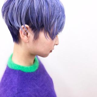 ブリーチ ショート レイヤーカット 個性的 ヘアスタイルや髪型の写真・画像