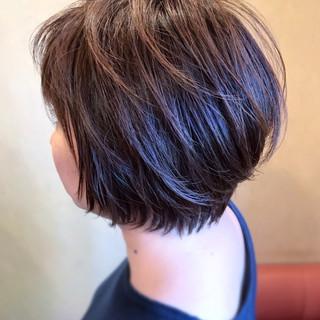 レイヤーボブ 大人かわいい グラボブ ショートボブ ヘアスタイルや髪型の写真・画像