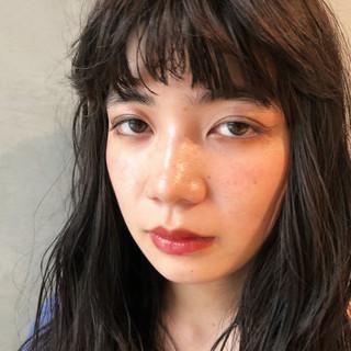 ショート セミロング 黒髪 ロング ヘアスタイルや髪型の写真・画像