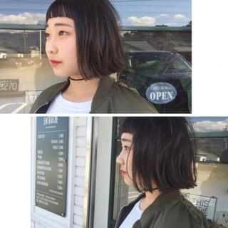 女の子  ボブ モード ヘアスタイルや髪型の写真・画像