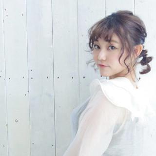 春スタイル ミディアム ヘアアレンジ デート ヘアスタイルや髪型の写真・画像