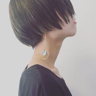 かっこいい こなれ感 ショート ハイライト ヘアスタイルや髪型の写真・画像