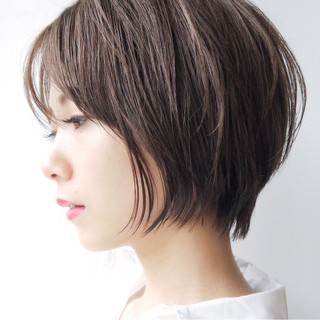 大人女子 女子力 ショート 大人かわいい ヘアスタイルや髪型の写真・画像