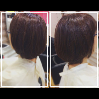 髪質改善カラー ナチュラル ボブ 髪質改善 ヘアスタイルや髪型の写真・画像